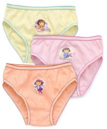 Dora Printed Panties Set of 3 - Yellow Pink Orange