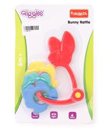 Funskool Giggles Bunny Rattles - Multicolour