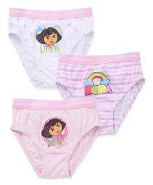 Dora Panties Pack of 3 - Pink White