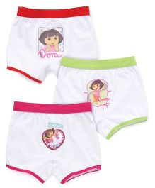 Dora Printed Bloomer Pack of 3 - Red Pink Green