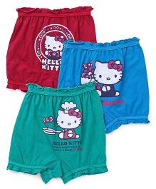 Hello Kitty Bloomers Pack of 3 - Red Sky Blue Green