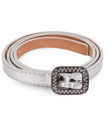 Kid-o-nation Belts With Diamond Studded Buckle - Silver