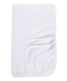 Mee Mee Towel Embroidered Detail - White