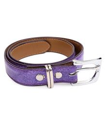 Kid-o-nation Belt With Silver Buckle - Purple