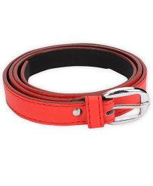 Kid-o-nation Girls Belt With Silver Buckle - Red