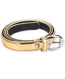 Kid-o-nation Girls Belt With Silver Buckle - Golden