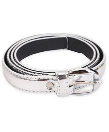 Kid-o-nation Girls Belt With Silver Buckle - Silver