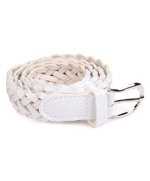 Kid-o-nation Girls Belts Broad Braided - White