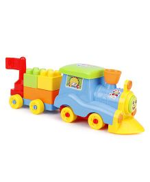 Fab N Funky Choo Choo Train Blocks Multicolour - 7 Pieces
