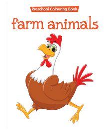 Preschool Coloring Book Farm Animals - English