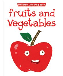 Preschool Coloring Book Fruits And Vegetables - English