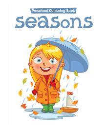 Preschool Coloring Book Seasons - English