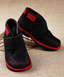 Tuskey High Ankle Boots - Red Black