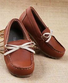 Tuskey Slip-on Style Moccasin Shoes - Brown