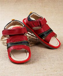 Tuskey Sandals Velcro Closure - Red