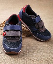 Tuskey Jogger Shoes With Double Velcro Closure - Navy Blue