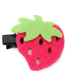 Sugarcart Cute Strawberry Alligator Clip - Pink