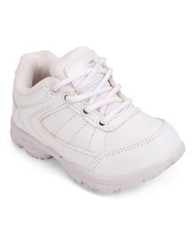 Prefect School Shoes Lace Up Style - White