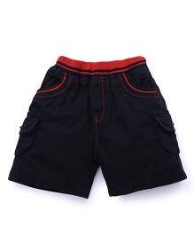 Babyhug 4 Pocket Woven Shorts - Dark Navy Blue
