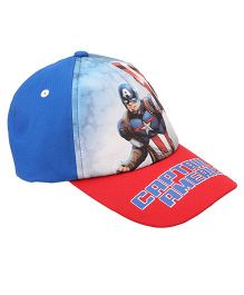 Disney Summer Cap Captain America Print - Blue Red