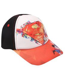 Disney Summer Cap Super Man Print - Black & Orange