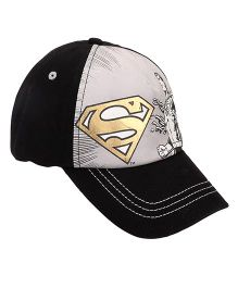 Disney Summer Cap Super Man Print - Grey Black