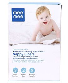 Mee Mee Absorbent Liners For Nappies - 100 Pieces