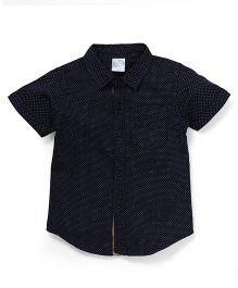 Babyhug Half Sleeves Shirt With All Over Dots Print - Navy