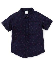 Babyhug Half Sleeves Shirt Anchor Print - Navy