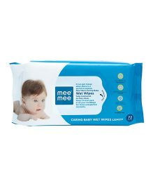 Mee Mee Caring Baby Wet Wipes With Lemon Fragrance - 72 Pieces