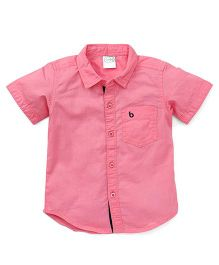 Babyhug Half Sleeves Solid Color Shirt - Pink