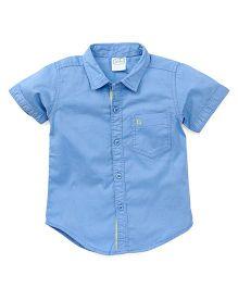Babyhug Half Sleeves Solid Color Shirt - Blue