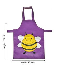 Kidzbash Apron Honeybee Design - Purple