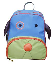 Kidzbash Backpack Doggy Design Blue Green - 11 Inches