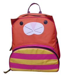 Kidzbash Backpack Kitty Design Coral - 11 Inches