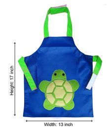 Kidzbash Apron Turtle Design - Blue Green