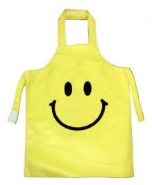 Kidzbash Apron Smiley Design - Yellow
