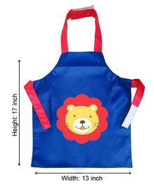 Kidzbash Apron Lion Design - Blue Red