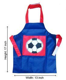 Kidzbash Apron Soccer Design - Blue Red