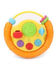 Winfun Fun Driver Junior Musical Steering Wheel - Yellow & Orange