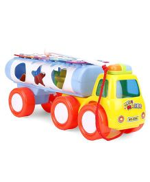 Tanker Shape Musical Pull Along Toy - Yellow & Red