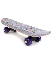 Skate Board Printed - Purple