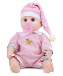 Happy Baby Doll With Sound - Pink