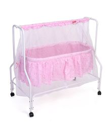 Babyhug Dream Time Cradle Printed - Pink