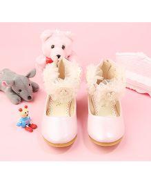 Walktrendy By Walkinlifestyle Zipper Anklet Shoe Floral Strap - Light Pink