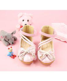 Walktrendy By Walkinlifestyle Zipper Anklet Shoe Knot Bow Design - Light Pink