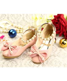 Walktrendy By Walkinlifestyle Mary Jane With Bow And Pearl Strap - Pink