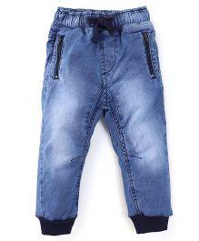 Kiddopanti Full Length Jogger Jeans - Light Blue