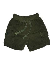 Kiddopanti Cargo Shorts With Drawstring - Green