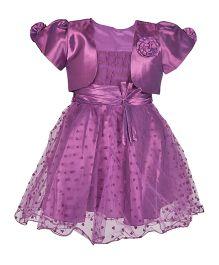Kiwi Singlet Party Dress With Shrug - Purple